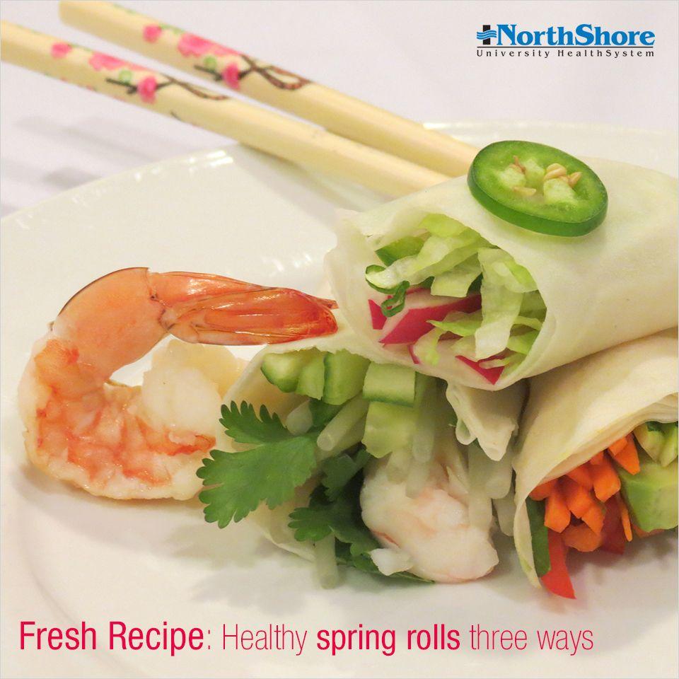 Fresh #Recipe: #Healthy Spring Rolls Three Ways