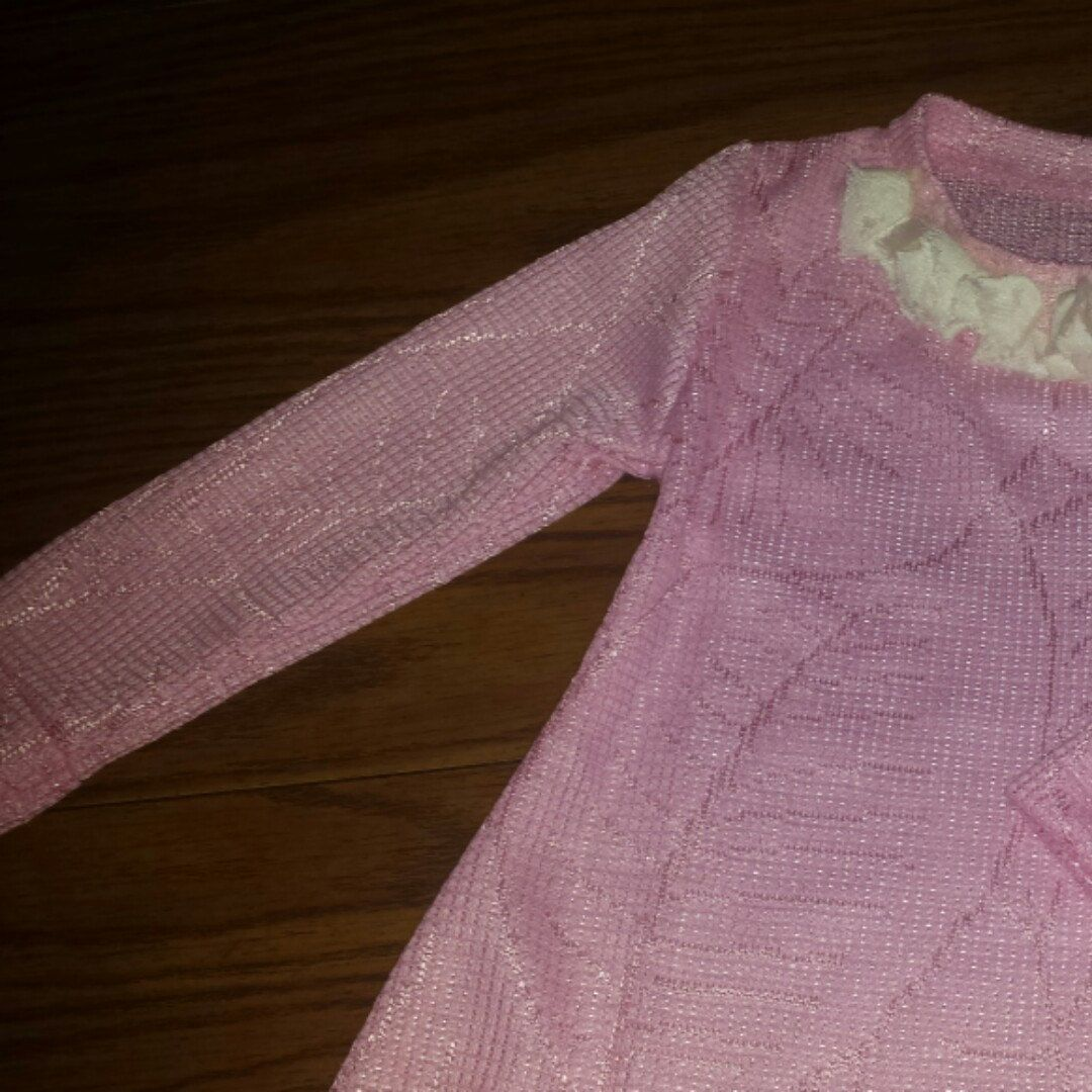 Wow!! Glitzy size 5 Toddler girl dress Be great for Easter Wedding Sunday long sleeve stretch knit pull over below knee