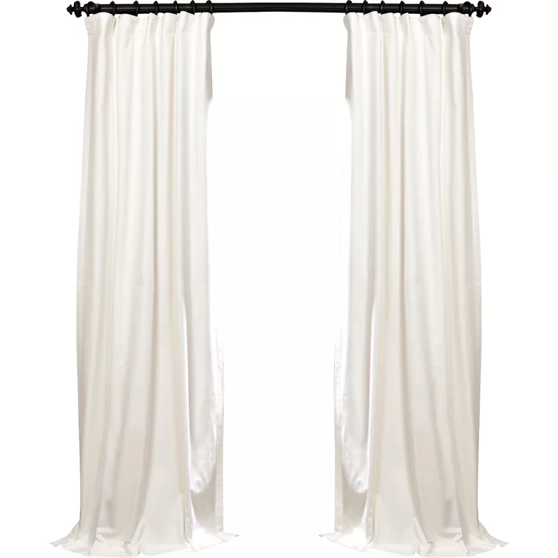 Bryce 100 Cotton Solid Blackout Thermal Rod Pocket Single Curtain Panel In 2020 Panel Curtains Curtains Colorful Curtains
