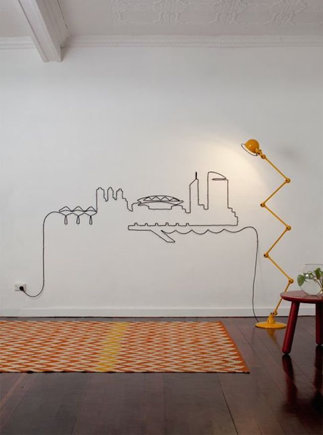 Turn Your Unsightly Wire Cables and Cords into Wall Art | Cable ...