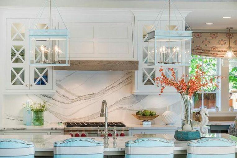 protector contra salpicaduras de mármol | Interiores para cocina ...