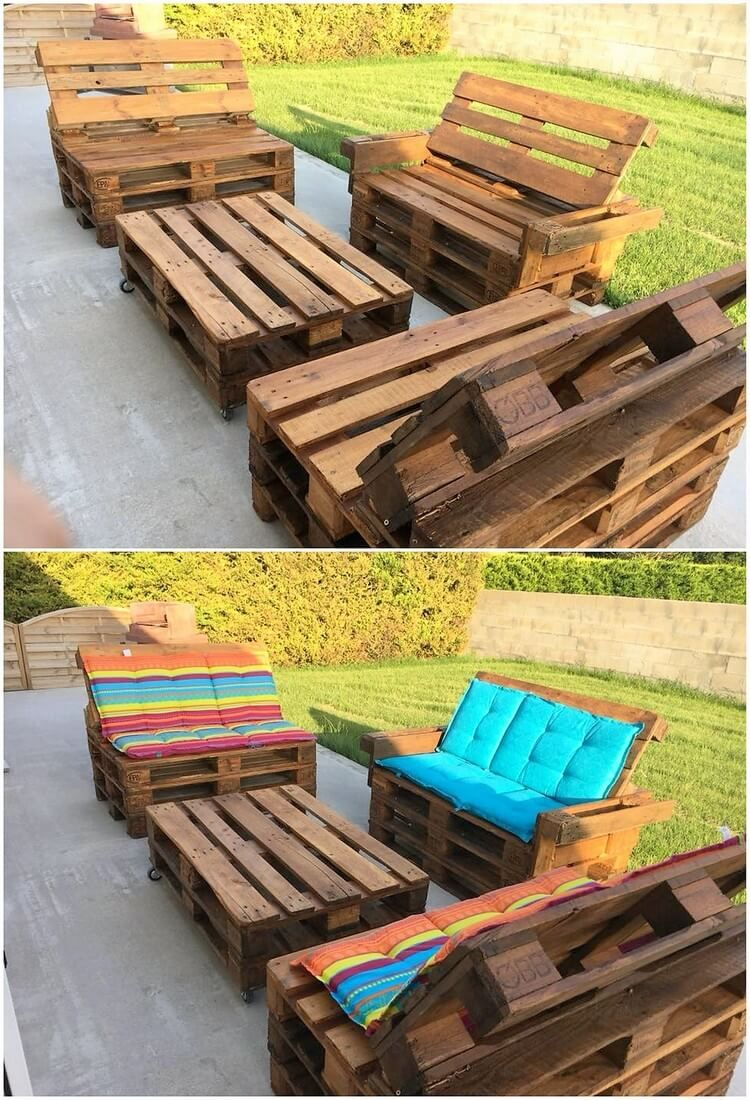 Let S Share An Interesting Idea Of Wood Pallet With You In Which We Would Come Out With The Stylish Gard Wood Pallets Pallet Furniture Reclaimed Wood Furniture