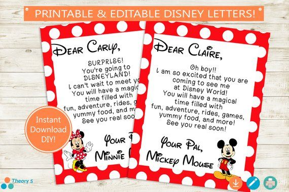 image about You Re Going to Disney World Printable named Disney Family vacation Demonstrate Letters // Adobe Editable PDF // Disney