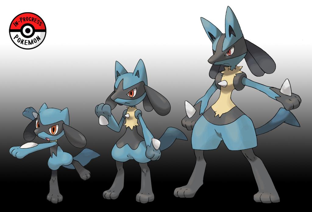 447 448 Riolu Line Redo By Inprogresspokemon Pokemon Pokemon