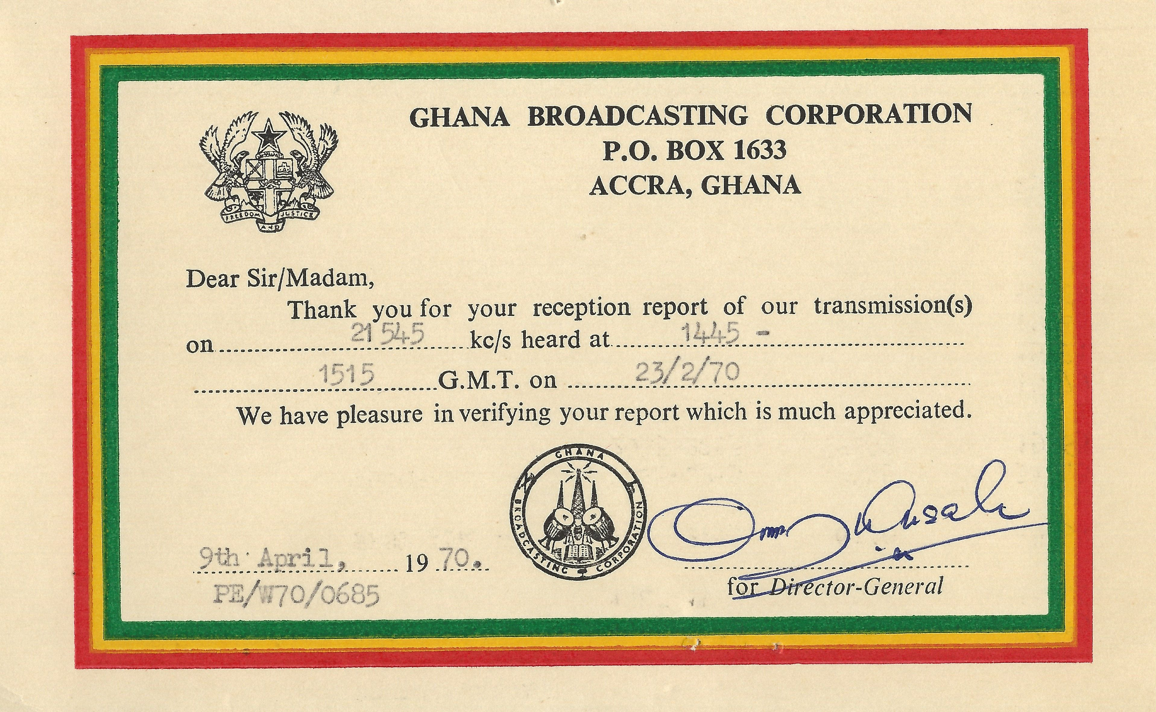 Ghana Broadcasting Corporation, Accra, Ghana