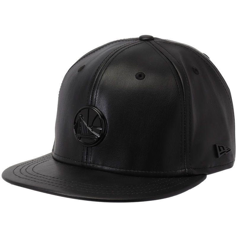 4b8491d630812e Golden State Warriors New Era Black Label Series Glossy Metal 9FIFTY  Snapback Adjustable Hat - Black