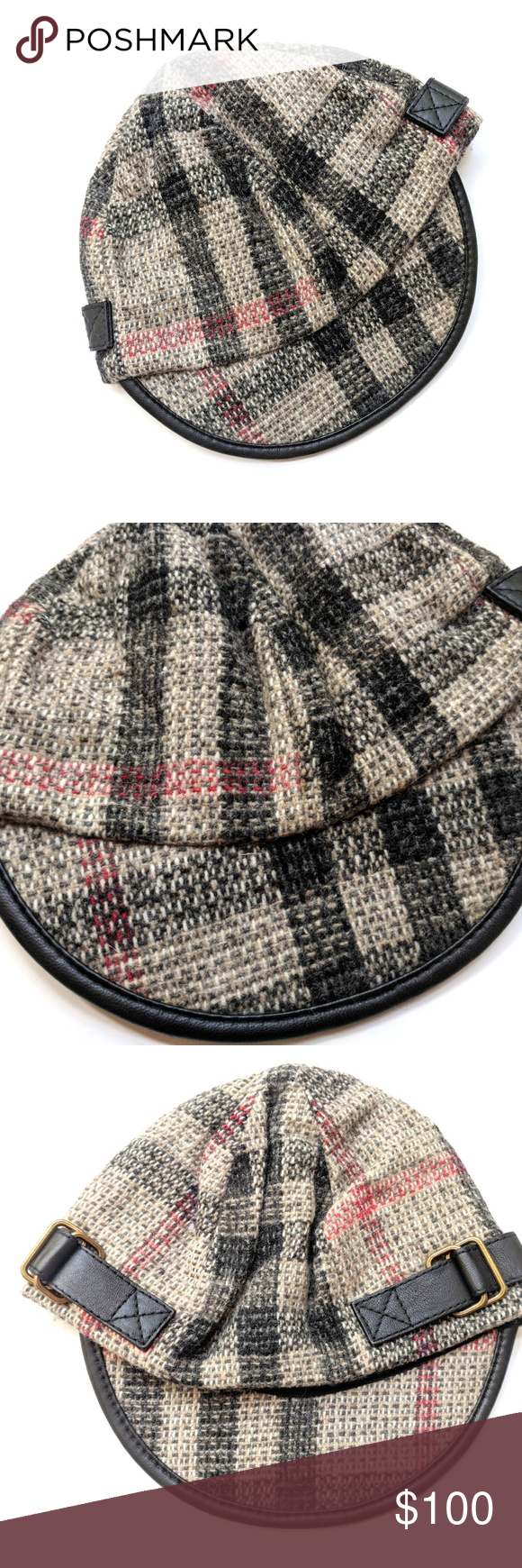 70e1fab91cb Burberry Women s Plaid Tartan Wool Cap Pageboy Hat Burberry Women s Plaid  Tartan Wool Cap Pageboy Hat Size  M 56-57cm Condition  VGUC My items come  from a ...