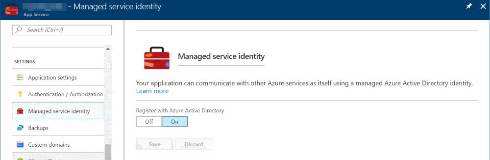 Authenticating with Azure Key Vault Using Managed Service
