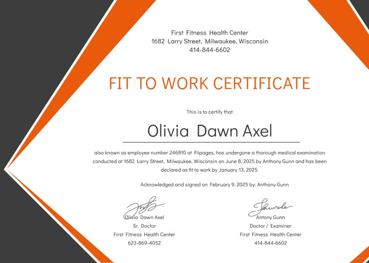 Free Medical Fitness Certificate Format With Images