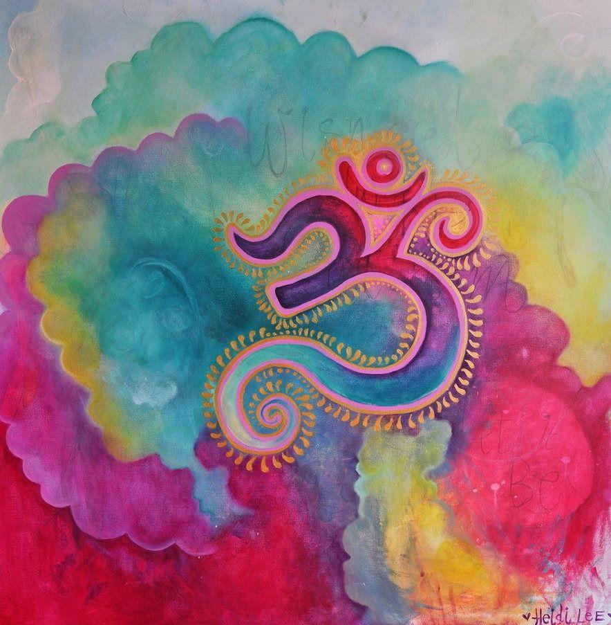 iliketolive — sleepypsychedelia Aum Ohm art, Art, Yoga art