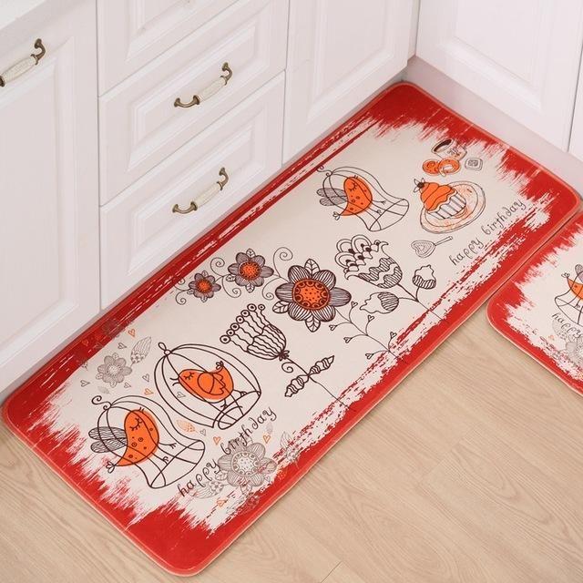Cactus WSHINE 2 Piece Kitchen Mat Non-Slip Floor Mat Bathroom Area Rugs Doormat Runner Rug Set Kitchen Carpet