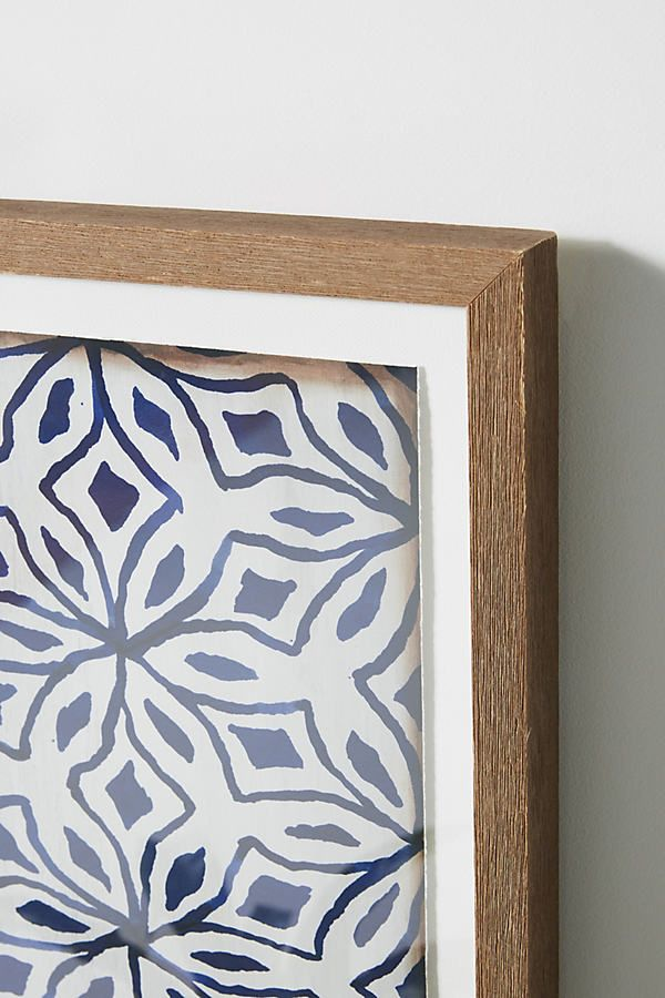 Textile Pattern Wall Art by Anthropologie in Blue, Decor #textilepatterns