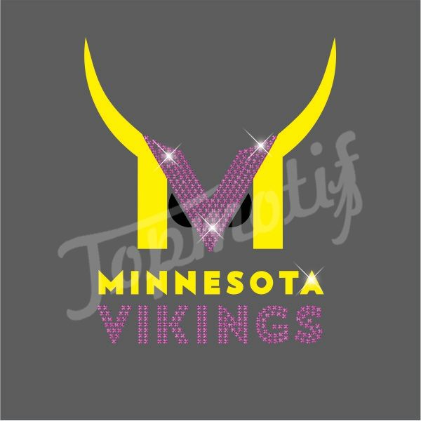 de36dc7b Custom Minnesota Sport Team Vikings Rhinestone Transfers Iron On ...