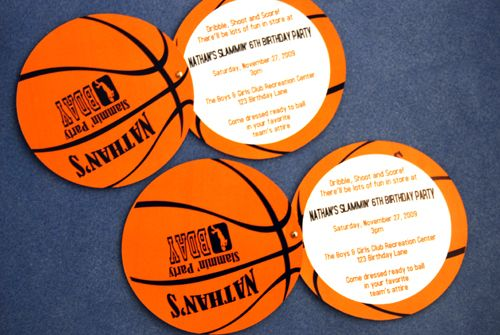 Baby Shower or Birthday Party Invitation Cards with Envelopes Basketball Set of 12 Nothin But Net Shaped Fill-in Invitations