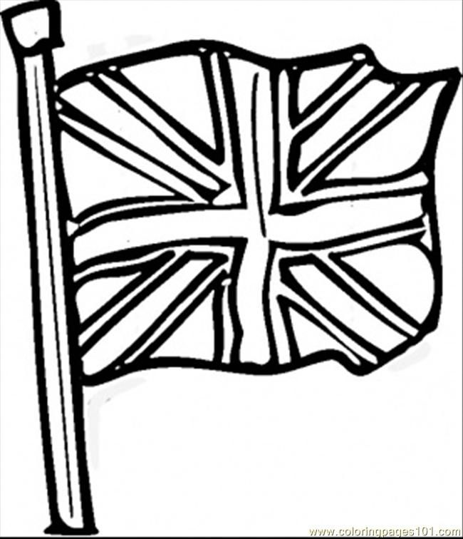 British Flag Flag Coloring Pages Britain Flag Great Britain Flag