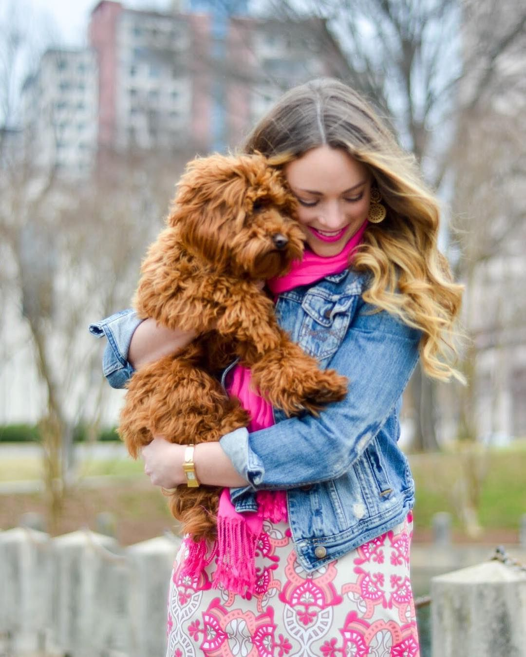 We love this shot of @brittanyanncourtney and her pup! All dresses are 25% off and they ship free. Just in time for Easter! Use code EASTERDRESS at checkout.  Direct link in profile.