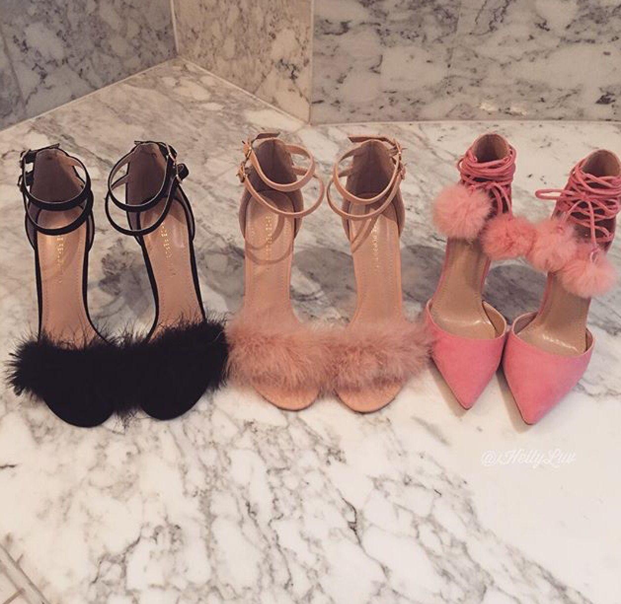 Cute fluffy designer heels   Heels