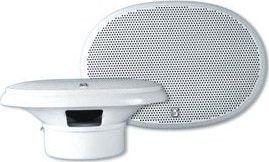 "PolyPlanar 6"" x 9"" Premium Oval Marine Speakers - (Pair) White"