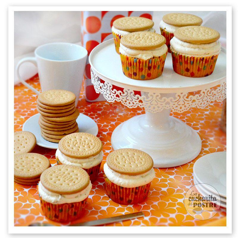 Cupcakes de galleta María y natillas