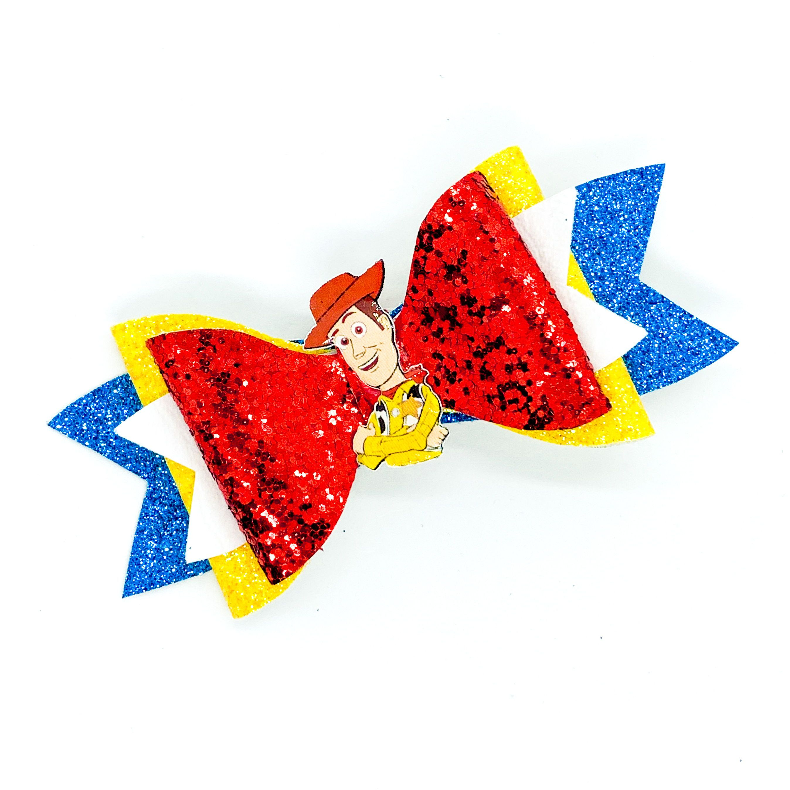 Woody Disney Toy Story Inspired Glitter Hair Bow #hairbows