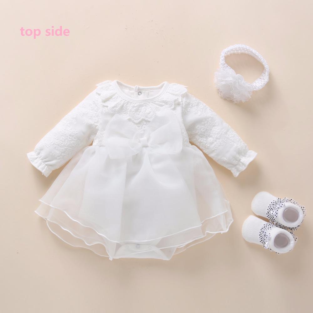 White Flower Girl Dress Chic Elegant White Ruffle Baby Girl Party Dress Perfect Vestidos Blancos Para Ninas Vestidos Para Bautizo Vestidos Bautizo Bebe Nina [ 1024 x 939 Pixel ]