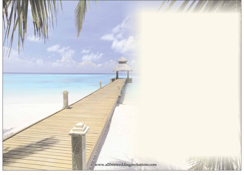 Beach Themed Wedding Invitations Uk: Beach Invitation Templates For Free