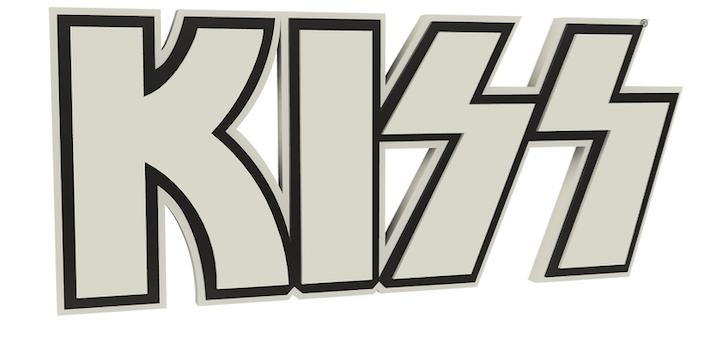 Kiss 3d Logo Foam Wall Sign 22 White Kiss Logo Logos Kiss Merchandise