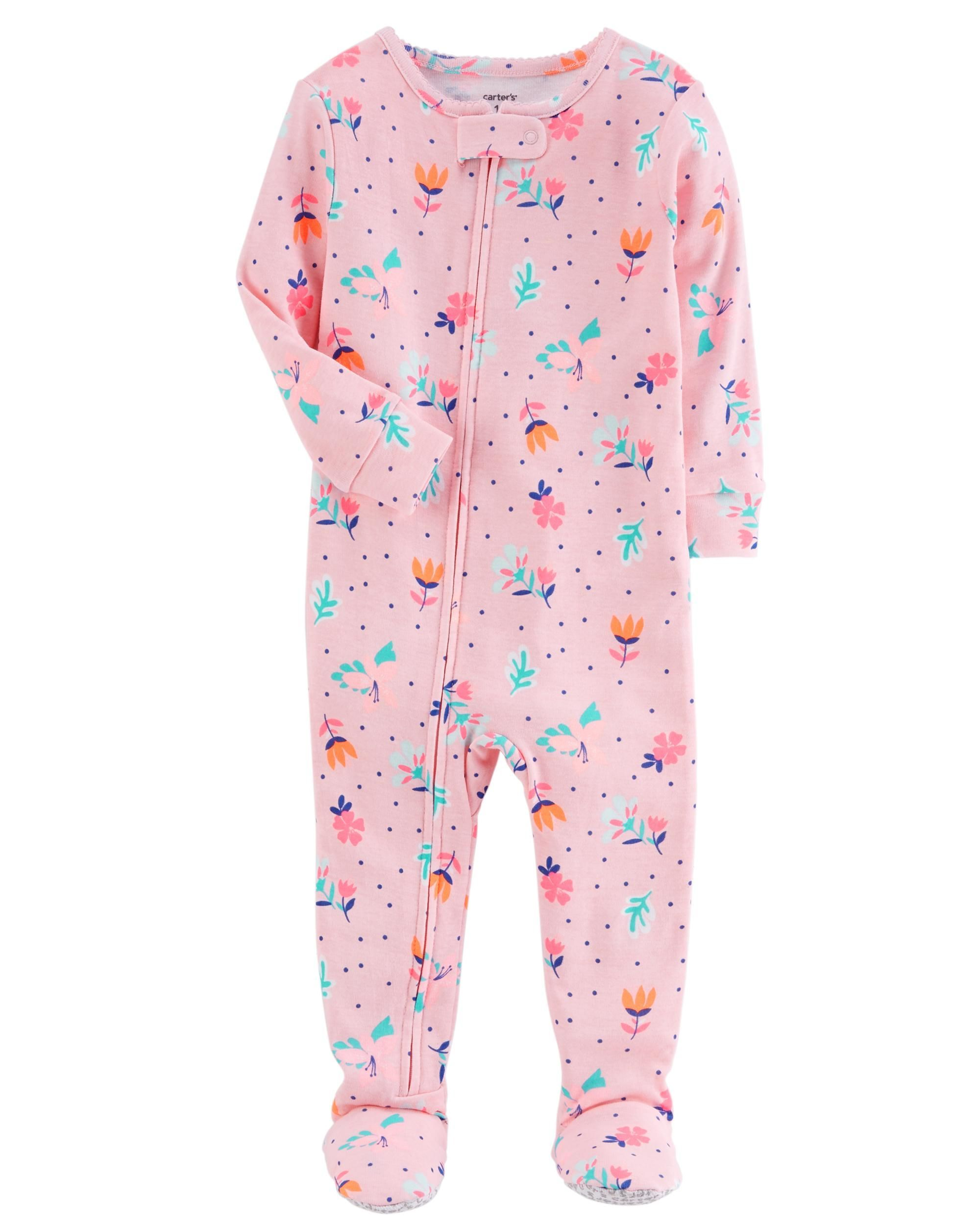 5573bb03a 1-Piece Neon Floral Snug Fit Cotton PJs