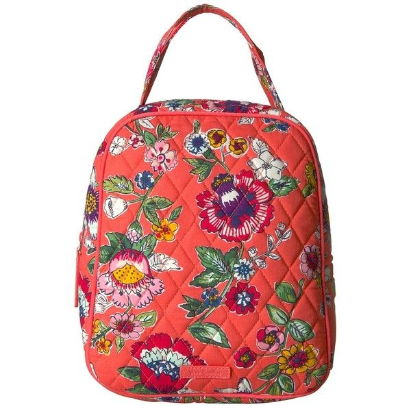56a33157db Vera Bradley Lunch Bunch (Coral Floral) Bags ( 34) ❤ liked on Polyvore  featuring bags