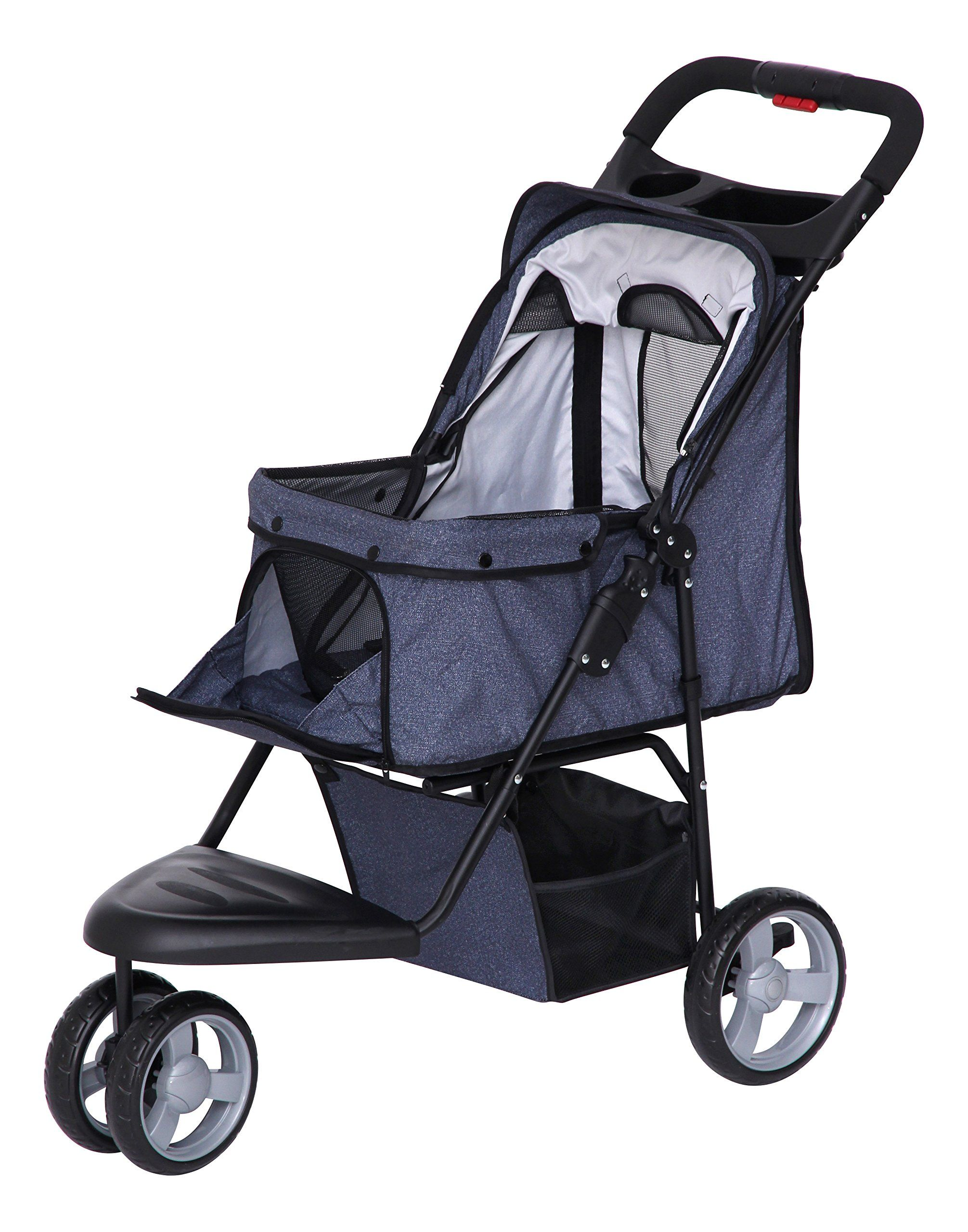 IRIS Pet Stroller Denim >>> Want to know more, click on