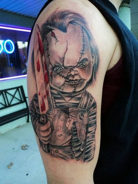 Realistic Coloring Of Chucky: Chucky Tattoo By Diane Lange