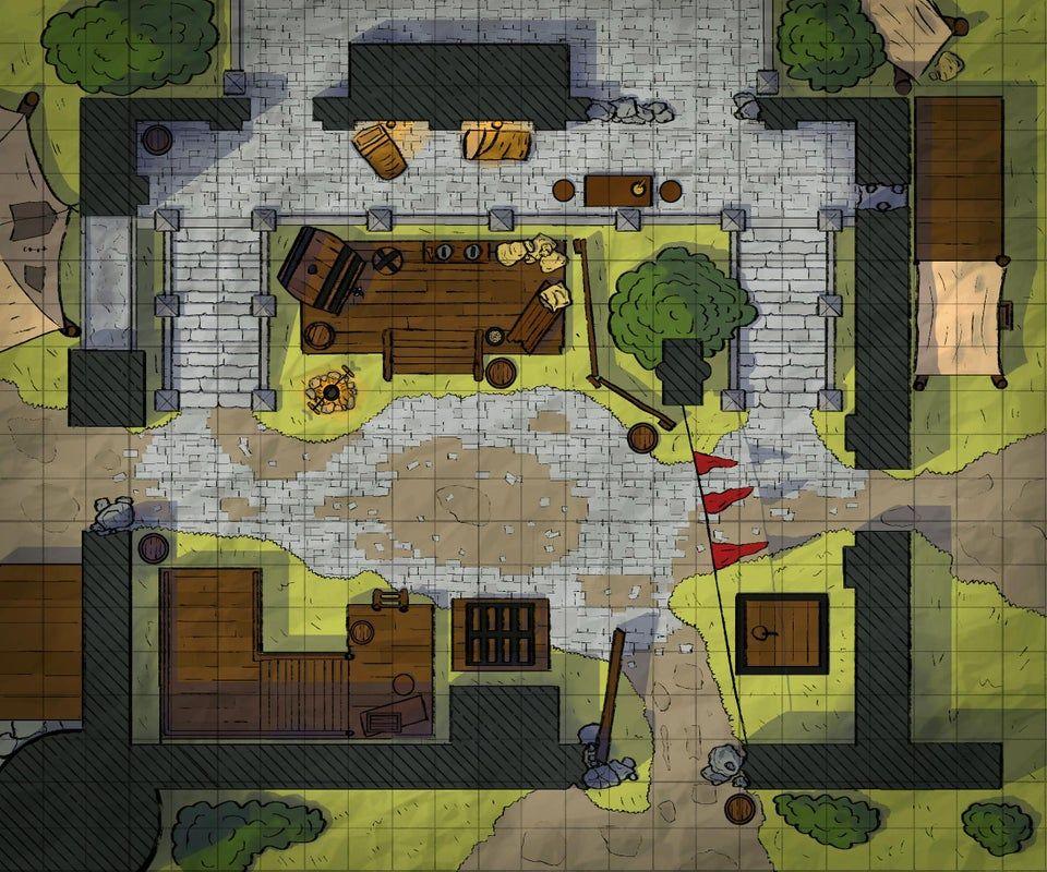 Griff's Camp Battle Map DivinityOriginalSin Pathfinder