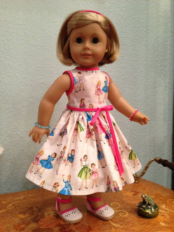 Very nice print Doll Dress 2013 Couture by SmallWorldCouture, $21.99
