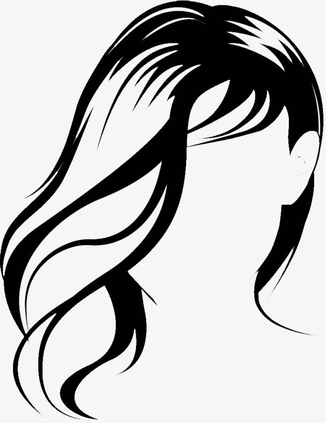 Vector de soprar o cabelo comprido, A Senhora De Cabelo - Ilustração ...