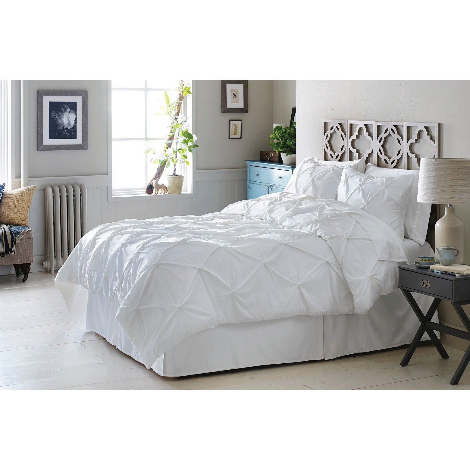 threshold pinched pleat comforter set comforter target and bedrooms
