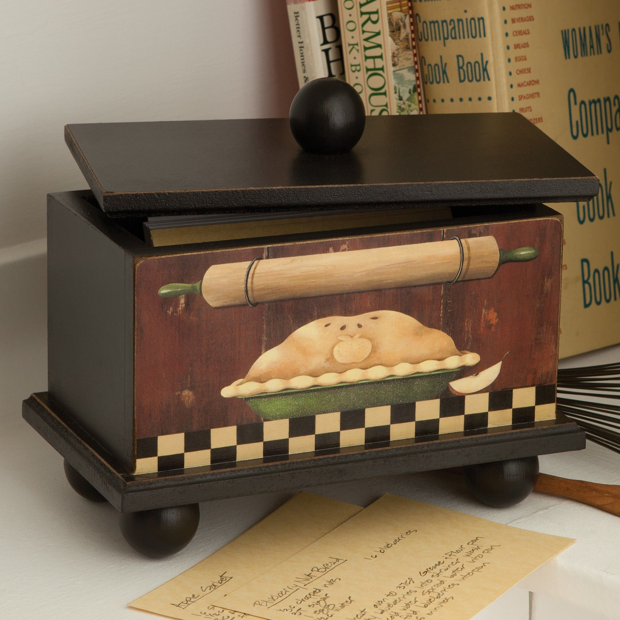Decorative Recipe Box Country Recipe Box  Sturbridge Yankee Workshop  Cute Ideas
