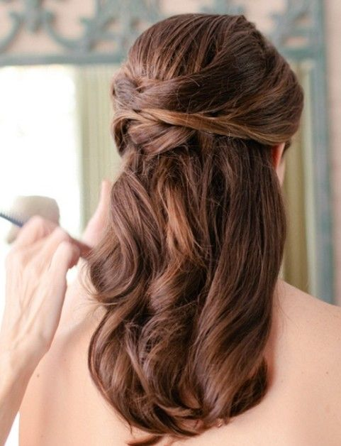 Wedding Hairstyles Pretty Half Up Half Down Hair Wedding Hair