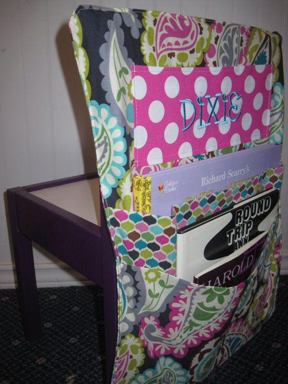 Chair Back Cover And Organizer By LeighMariebyJC On Etsy, $24.99