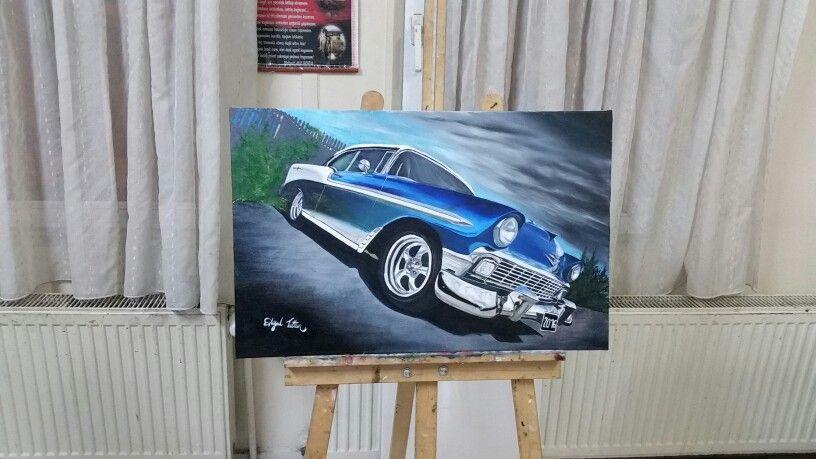 Yagli Boya Classic Klasik Araba Klasik Arabalar Araba Klasik