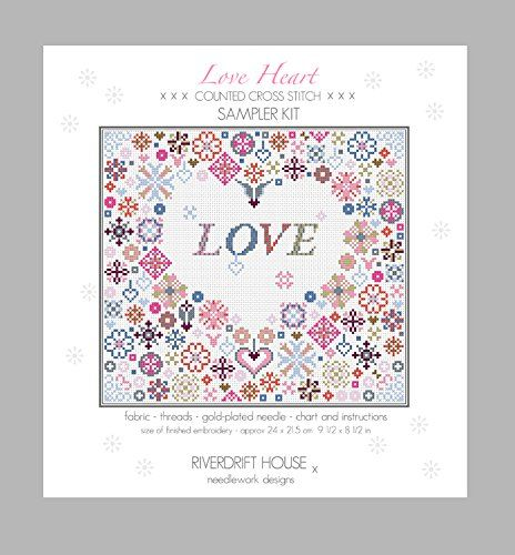 HYGGE HEART COUNTED CROSS STITCH KIT by RIVERDRIFT HOUSE
