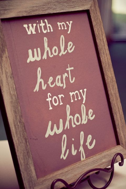 Wedding Sign with quote, also on table at entrance or on ...