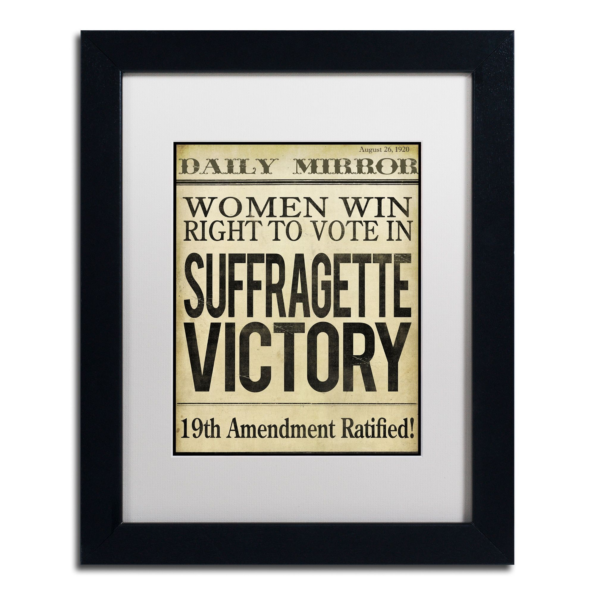 Color Bakery \'Women s Right to Vote\' Matted Framed Art   Products ...