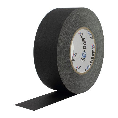Pro Gaff Black Gaffers Tape 2 X 55 Yard Roll Pack Of 24 In 2020 Gaffer Tape Rubber Adhesive Cloth Tape
