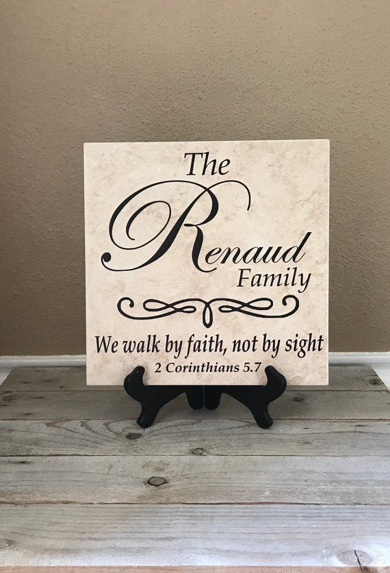 Personalized Sign Name Tile Family Name Gifts Wedding Gifts