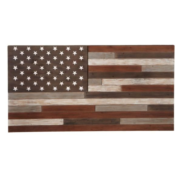 Wood American Flag Wall Art cbk 130616 slat wood american flag wall decor | hope home