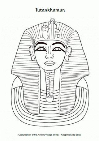 Ficha para colorear a Tutankamón | Proyecto escolar: Egipto ...