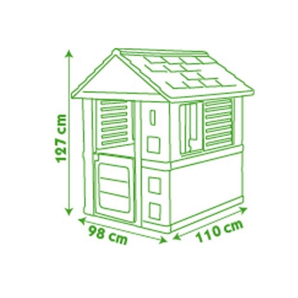 Plastic Playhouse with UV Protection – Animals # Green-Gray
