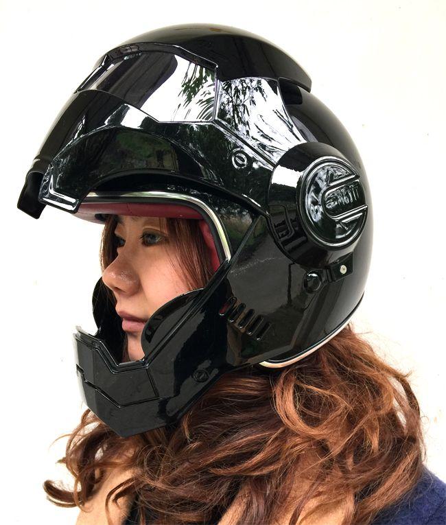 Masei Matt Black Atomic Man 610 Open Face Motorcycle Helmet