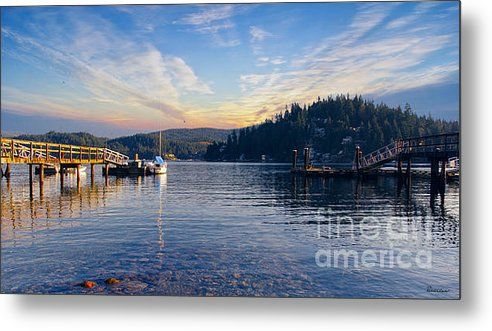#Paradise #Bay #Sunrise C2 #Photography #Lake #Dock #Pier #Boat #Skyscape #Clouds #Water #Colorful #Ricardos #Creations  #RiacrdosCreations #Outdoor #Art #Metal #Print