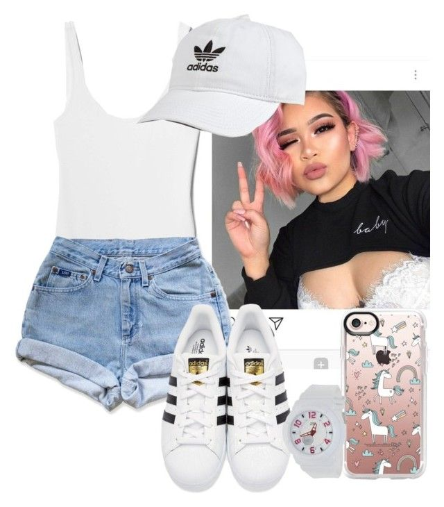 """""""Untitled #83"""" by yasminsanaad ❤ liked on Polyvore featuring Gap, Levi's, adidas Originals, adidas, Casetify and Casio"""